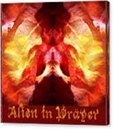 Alien In Prayer Canvas Print