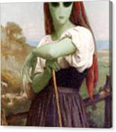 Alien Shepherdess Canvas Print