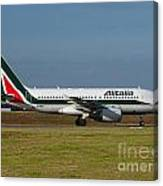 Alitalia Airbus A319 Canvas Print