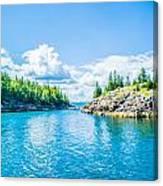 All About Aqua Canvas Print
