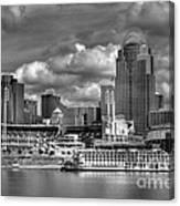 All American City Bw Canvas Print