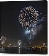 All At Once San Diego Fireworks Canvas Print