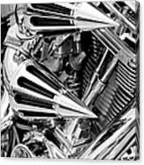 All Chrome Chopper Canvas Print