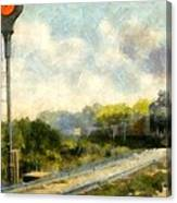 All Clear On The Pere Marquette Railway  Canvas Print