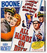 All Hands On Deck, L-r Pat Boone Canvas Print