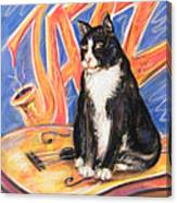 All That Jazz Cat Canvas Print