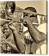 All That Jazz Sepia Canvas Print