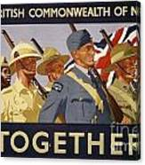 All The Commonwealth Countries Unite. Canvas Print