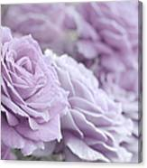 All The Soft Violet Roses Canvas Print