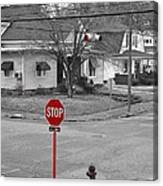 All Way Stop Canvas Print
