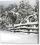 Allaire Snow Canvas Print