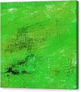 Allegory Emerald Green Canvas Print