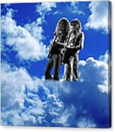 Allen And Steve In Clouds Canvas Print