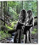 Allen And Steve On Mt. Spokane 2 Canvas Print