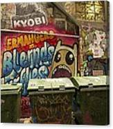 Alley Graffiti Canvas Print