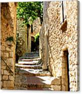 Alley In Eze, France Canvas Print