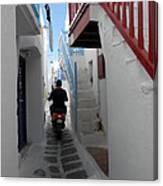 Alley Way In Mykonos Canvas Print
