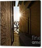 Alley With Sunbeam Canvas Print