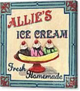 Allie's Ice Cream Canvas Print