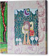 Alligator And The Doughnut Bag Canvas Print