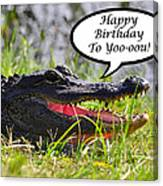 Alligator Birthday Card Canvas Print