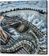 Alligator Hunt Canvas Print