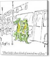 Alligators Riding The Subway Canvas Print