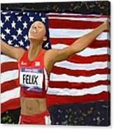 Allison Felix Olympian Gold Metalist Canvas Print
