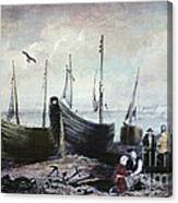Allonby - Fishing Village 1840s Canvas Print