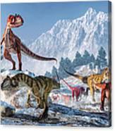 Allosaurus Pack Canvas Print