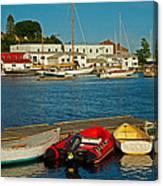 Alls Quiet In The Harbor Canvas Print