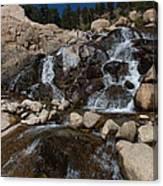 Alluvial Wet Rocks Canvas Print