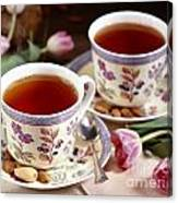 Almond Tea For Two Canvas Print
