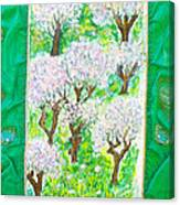 Almond Trees And Leaves Canvas Print