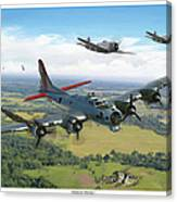 Almost Home  B-17 Flying Fortress Canvas Print