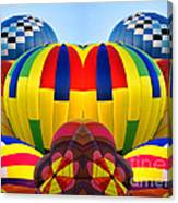 Almost Inflated Hot Air Balloons Mirror Image Canvas Print