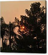 Almosts Gone Now Sunset In Smoky Sky Canvas Print