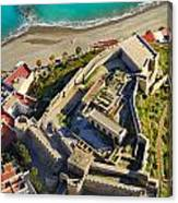 Almunecar Castle From The Air Canvas Print