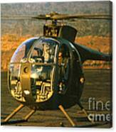 Aloha  Oh-6 Cayuse Light Observation   Helicopter Lz Oasis Vietnam 1968 Canvas Print