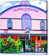 Aloha Theatre Kona Canvas Print