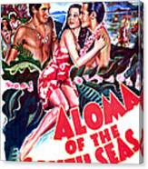 Aloma Of The South Seas, Us Poster Canvas Print