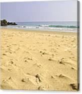 Alone At Bolonia Beach Canvas Print