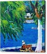 Alone At The Beach Canvas Print