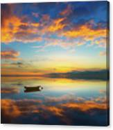 Alone In A Colorful World Canvas Print