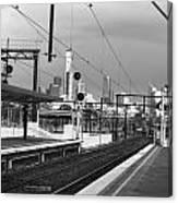Alone In Railtracks Canvas Print