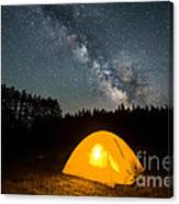 Alone Under The Stars Canvas Print
