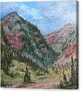 Along South Mineral Creek En Plein Air Canvas Print