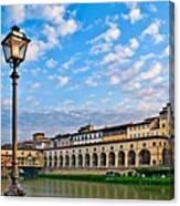 Along The Arno #2 Canvas Print