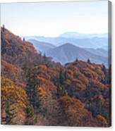 Along The Blue Ridge Parkway  N C Canvas Print