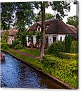 Along The Canal. Giethoorn. Netherland Canvas Print